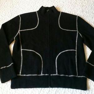 Vintage Neiman Marcus XL Cashmere Blk Knit Sweater